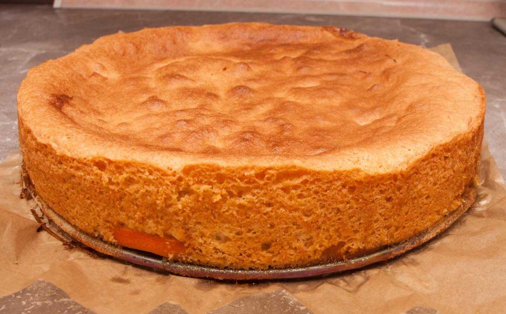 с готового пирога снимаю разъемную форму