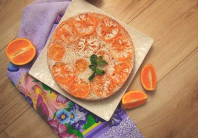 апельсиновый пирог приготовленный в домашних условиях фото