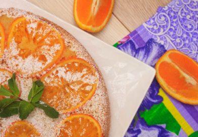 Фото рецепта апельсинового пирога