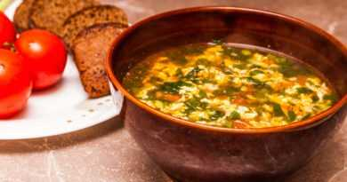Яичный суп с помидорами, Суп с помидорами и яйцом