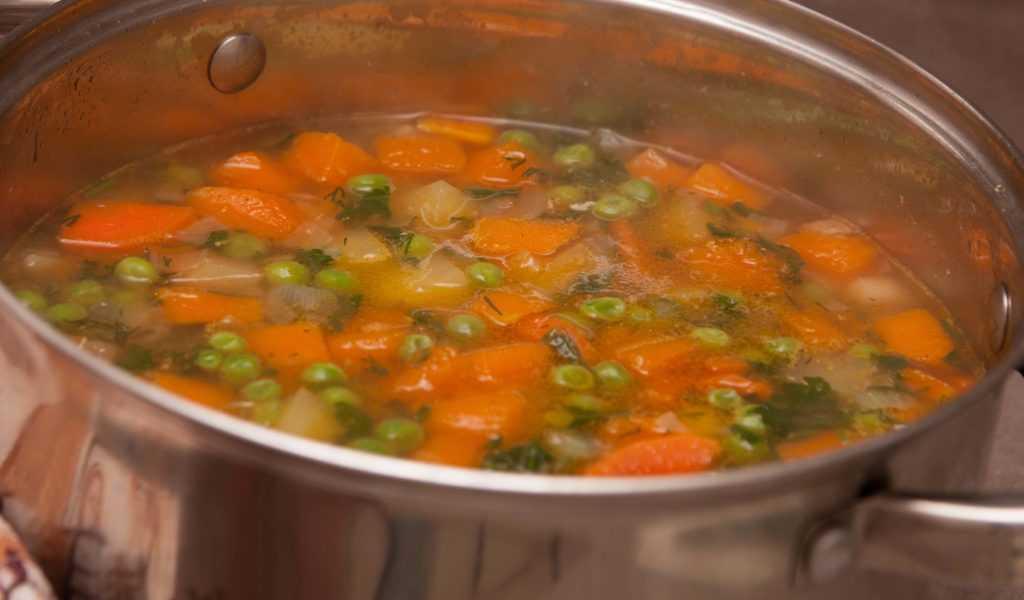 Суп-пюре обогащаю зеленью