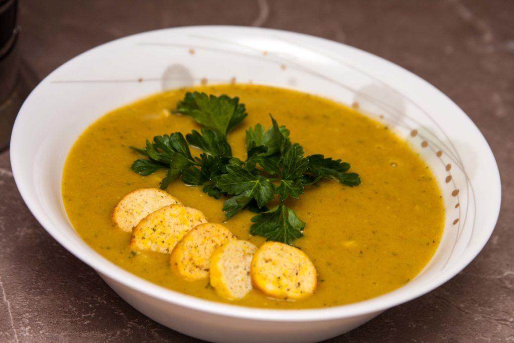 Готовый тыквенный суп-пюре со сливками