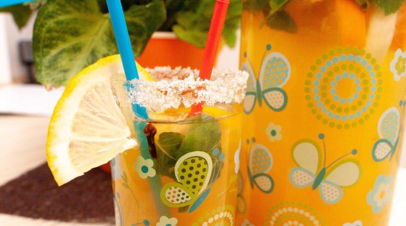 Лимонад с имбирем и мятой