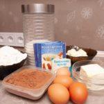 Ингредиенты для бисквита шоколадного торта