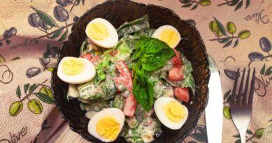 легкий салат на праздник