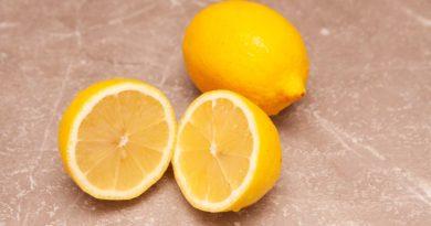 лимоны разрезаю пополам