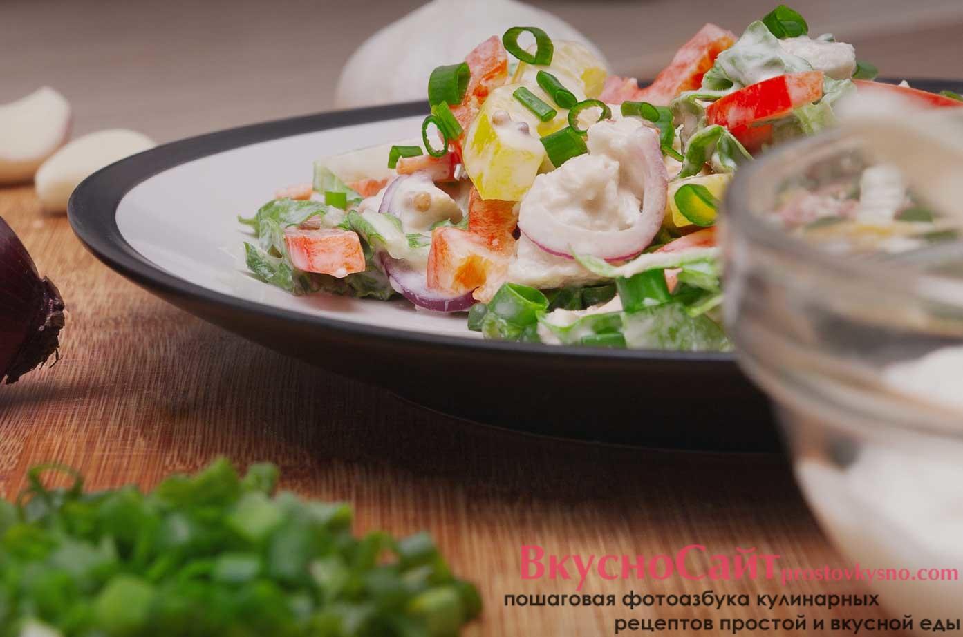 Яркий весенний салат с пекинской капустой