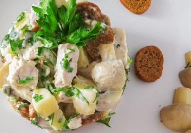пошаговые фотографии приготовления салата пикантный с сухарями