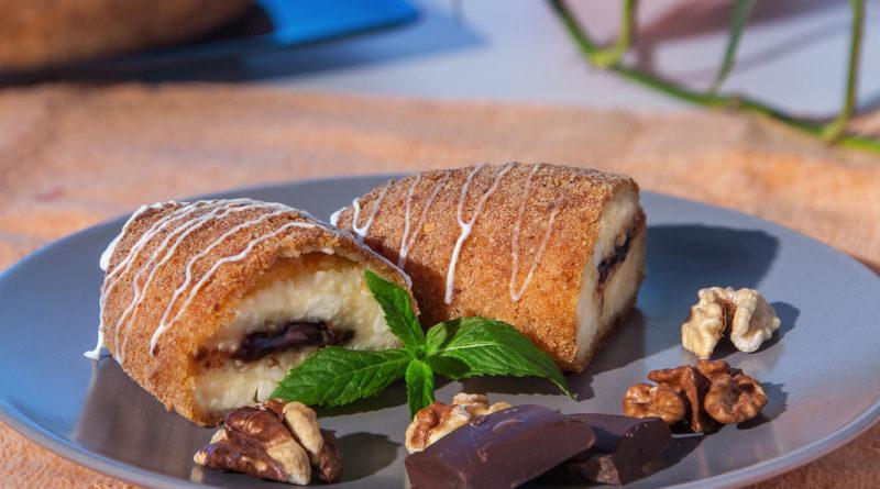 простой рицепт сырников с шоколадом в панировке