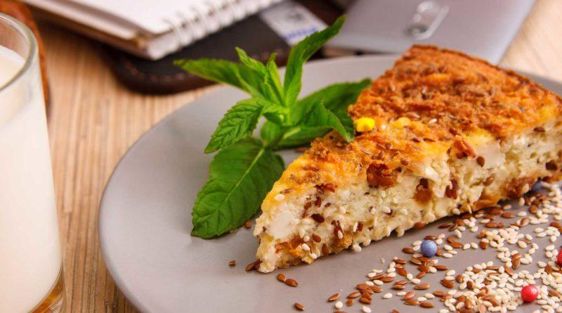 творожная запеканка с рисом из духовке переложила на тарелку