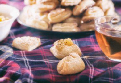 вкусное творожное печенье гусиные лапки готово