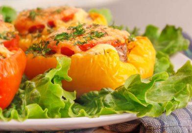 простой рецепт запеченного фаршированного переца