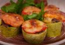 вкусные и сытные «Бочонки» из кабачков с фаршем