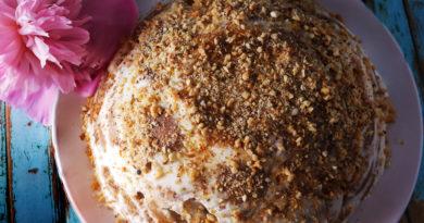 Ленивый торт из пряников без выпечки готов