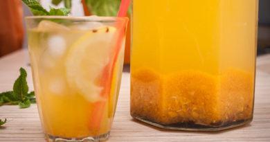 простой рецепт лимонада из облепихи, имбиря и мяты