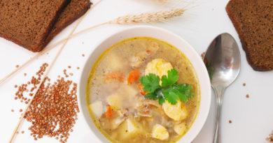 простой рецепт гречневого супа с курицей
