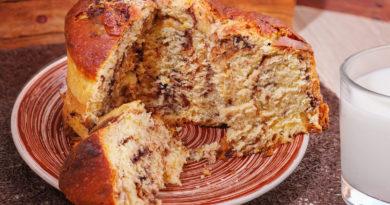 Итальянский кулич – панеттоне с шоколадом невероятно вкусный