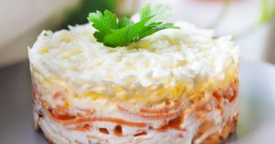"""Приготовленный в домашних условиях салат """"Бунито"""""""