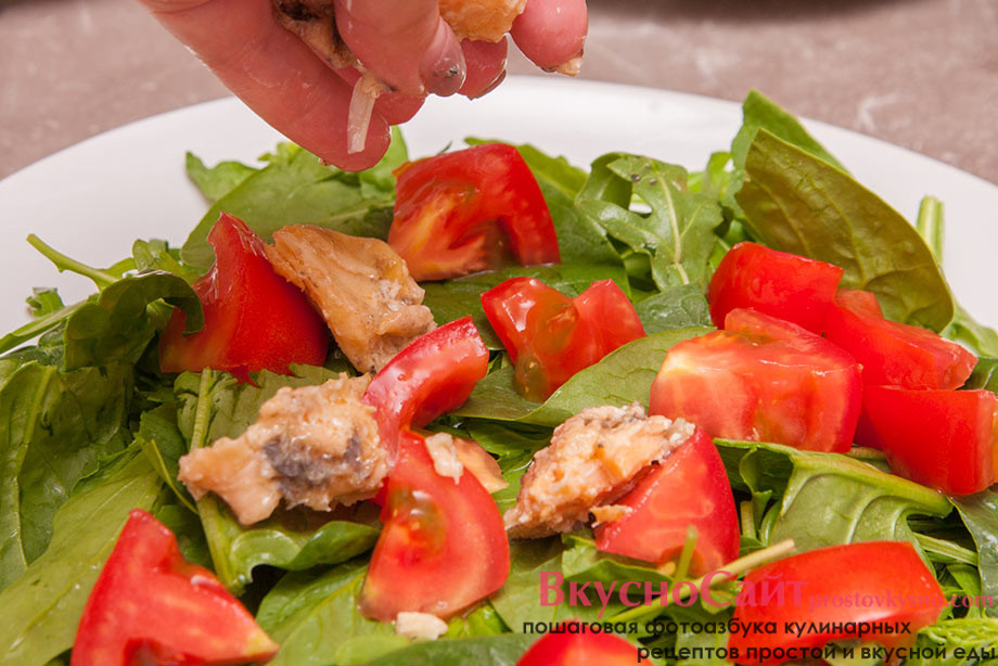 на помидоры кладу рыбу