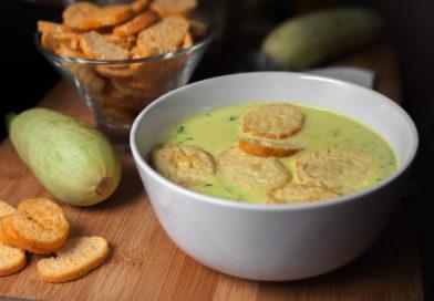 нежный и легкий суп-пюре из кабачков