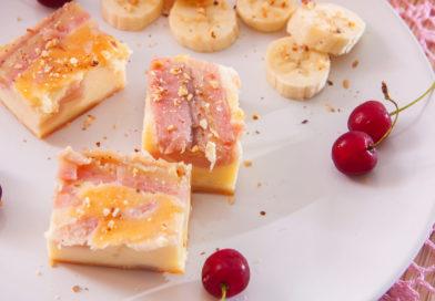 простой рецепт творожной запеканки с бананами