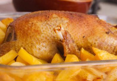 вкусная и сочная индоутка с картофелем