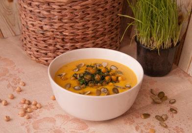 суп – пюре из тыквы с нутом