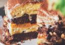 вкусный торт зебра с фруктами в мулитиварке