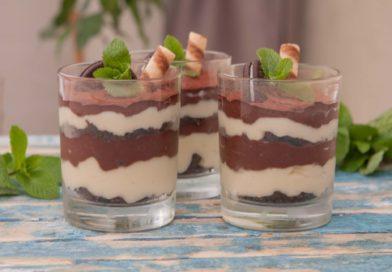готовим дома десерт в стакане без выпечки