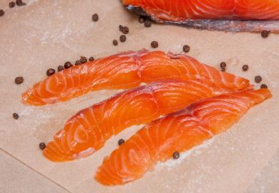 Домашний малосоленый лосось
