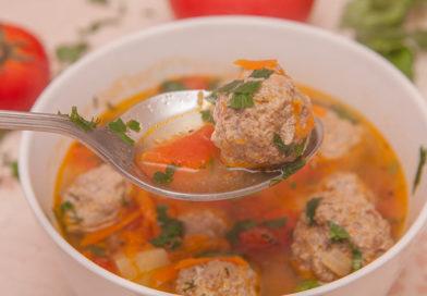 суп с тефтелями из говядины