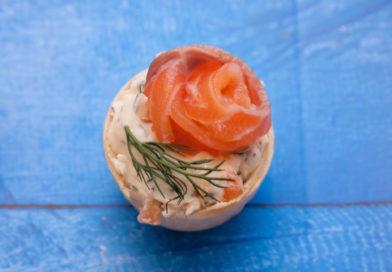 простой рецепт тарталеткок с лососем