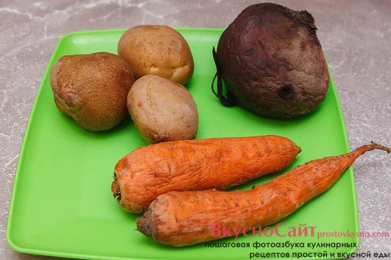 овощи необходимо отварить и остудить