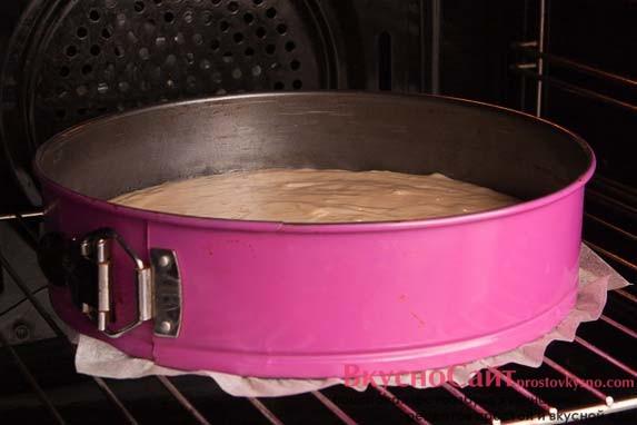отправляю форму в разогретую до 180 градусов духовку на 30-35 минут