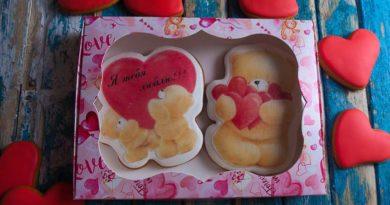Заказать имбирного мишку Тедди на день святого валентина