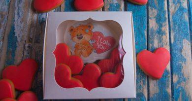 Заказать имбирные пряники на день святого валентина