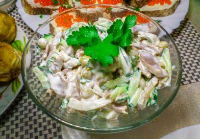 вкусный и простой салат из куриных пупков