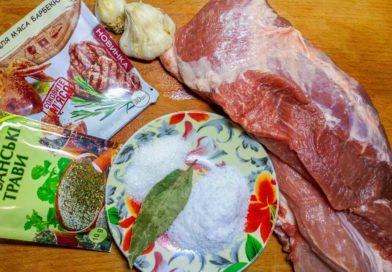 для приготовления свинины в коптильне мне понадобится