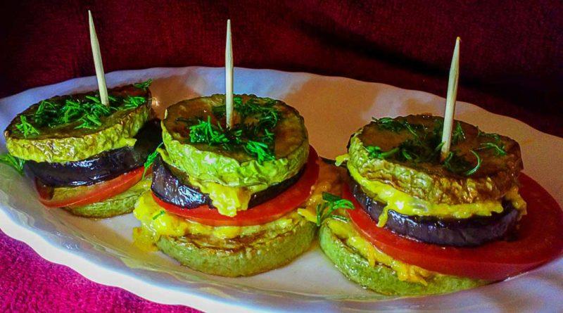 Закуска из кабачков, баклажанов и помидоров