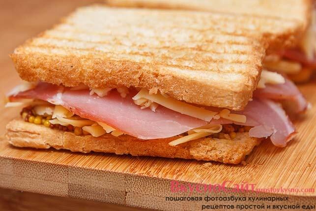 накрываю каждый получившиеся бутерброды втором кусочком хлеба
