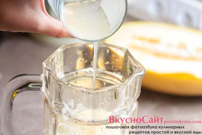 выжимаю сок из половины лимона