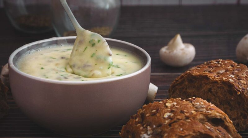 Плавленый сыр с грибами и зеленью