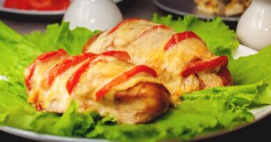 Куриная грудка с помидорами с сыром запеченная в духовке