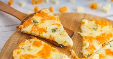 Пицца четыре сыра в домашних условиях