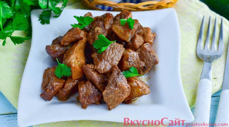 Простой рецепт свинины жареной в соевом соусе