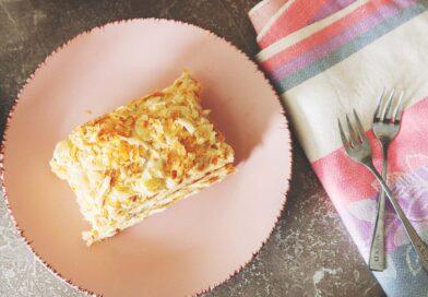 простой рецепт торта «Наполеон» из готового слоёного теста