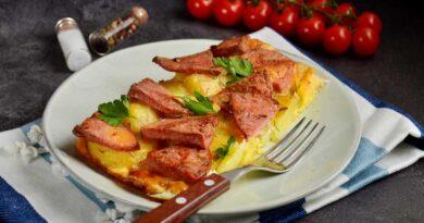 Завтрак крестьянина с картошкой в духовке