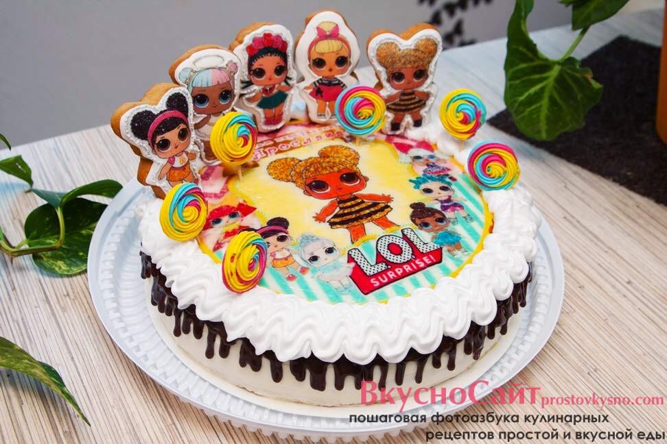 пряники куклы лол на торт ко дню рождения