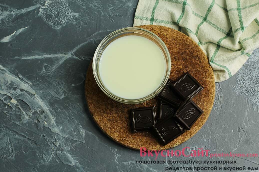 для покрытия американских пончиков шоколадом мне нужны следующие ингредиенты