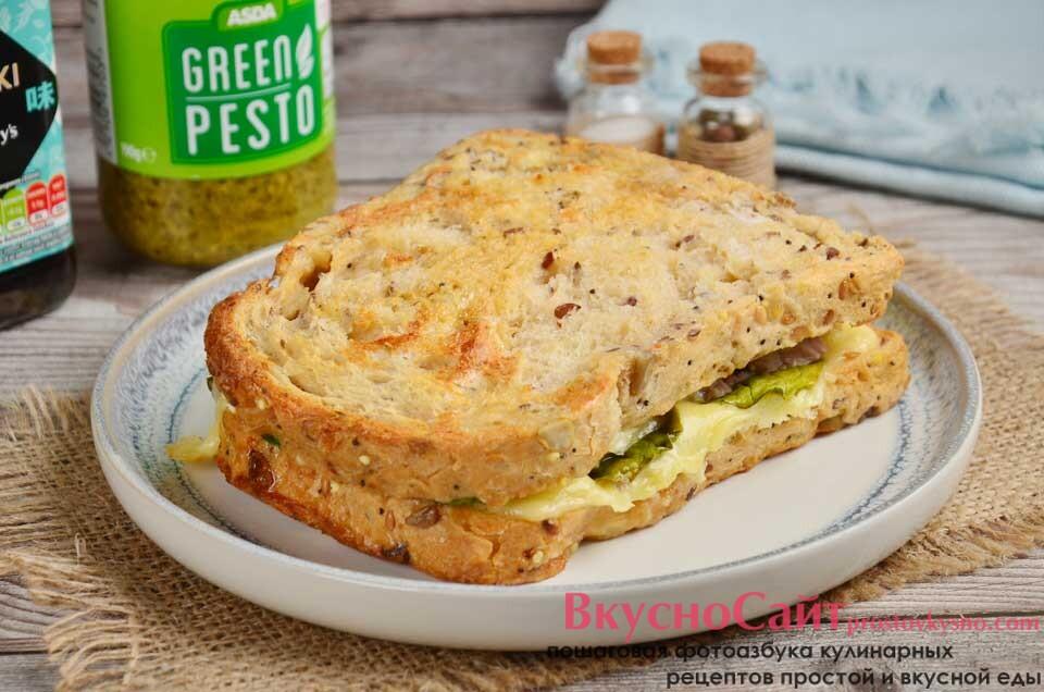 Мелт с тунцом (горячий закрытый сэндвич)